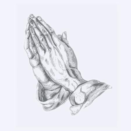 mains pri�re: prier les mains