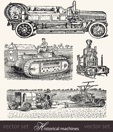 Historical machines Illustration