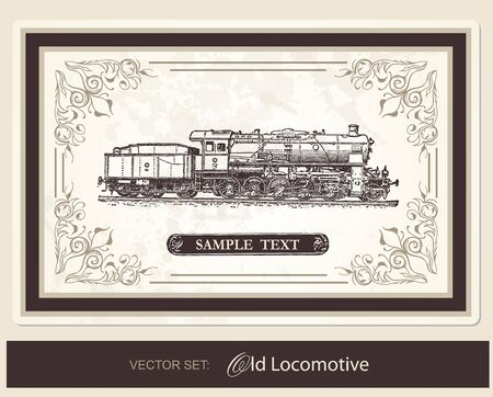 Historical Locomotive Vector