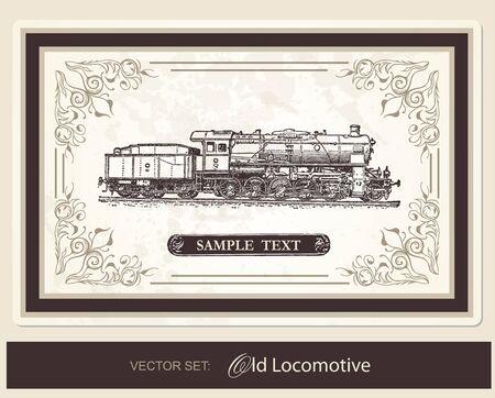 locomotora: Locomotora Histórico Vectores