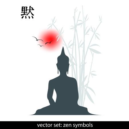 Zen-Symbole Illustration