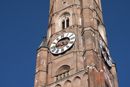Germany, Landshut, the big Church and blue Sky