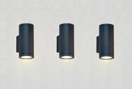 Lampen auf strukturiertes Wand