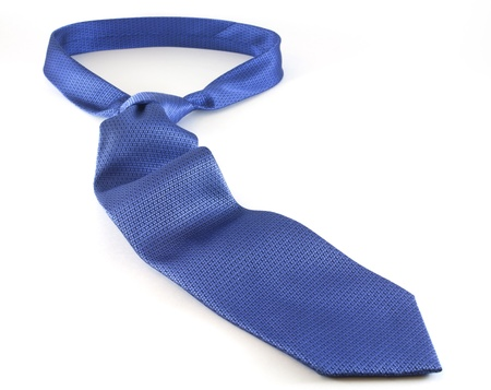 Blue Men Necktie with white background  photo