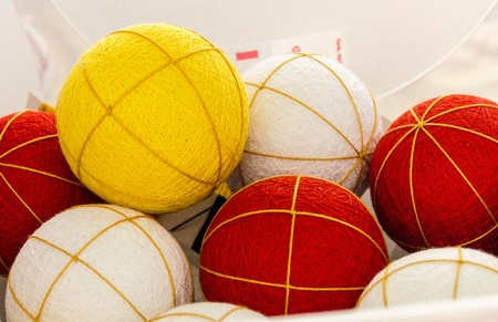 fancywork: Half-finished balls for embroidering in order to make temari