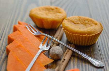 flavour: Spicy homemade muffins with flavour of cinnamon, nutmeg, and ginger