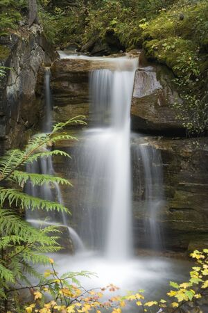 A beautiful Waterfall surounds by a forest Stock Photo