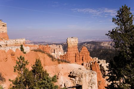 View of the Bryce Canyon National Park Stock Photo