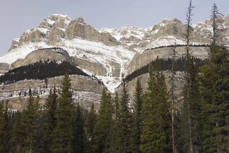 Rugged mountains with a touch of snow