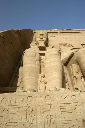 Colossai statues at the Temple of Ramses II in Egypt