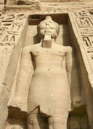 Statues of Nefertari as goddess Hathor  Stock Photo
