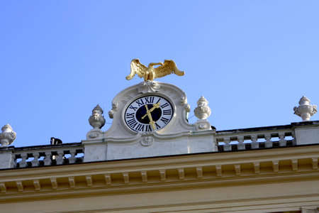 The clock on top of the Schonbrunn Palace