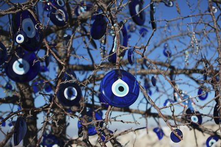 The evil eye is to bring good luck to the wearer and is bought in Turkey