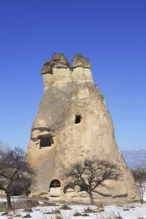 Rock Formations of Capadocia though erosion and weather make the rock look like Fairy Chimneys