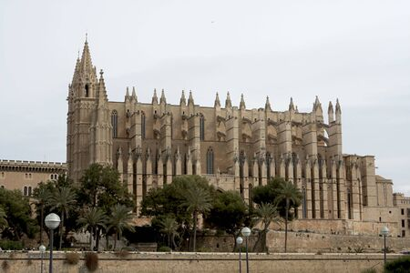 mallorca: The beautiful Cathedral in Palma Mallorca Spain Stock Photo