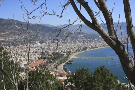 Over look of Alanya bay and city