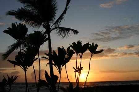 Sun going down on the Big Island of Hawaii Stock Photo - 3186508