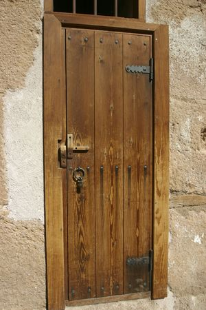A very old door found in the St Catherines Monastery Stock Photo