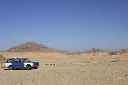 sinai desert: Egyptian car in the Sinai Desert