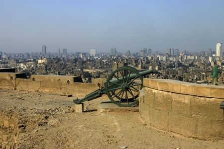 Cannon on the wall of the Citadel in Cairo Egypt Stock Photo