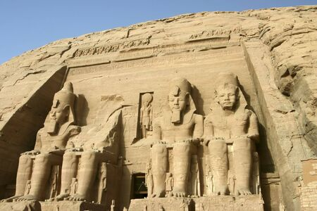 The Great Temple of Rameses II in Abu Simbel