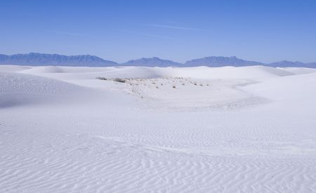 White Sands National Park in New Mexico USA Stock Photo