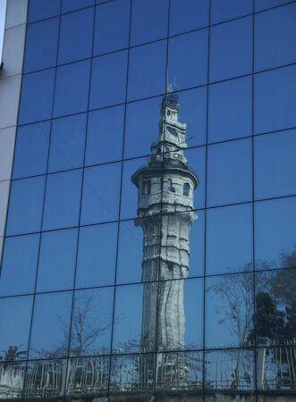 Reflection of a Minaret in the glass