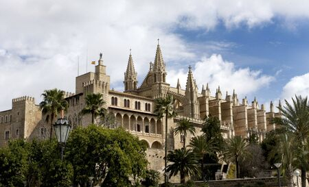 The beautiful Cathedral in Palma Mallorca Spain Stock Photo