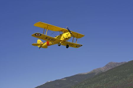 A 1938 Tiger Moth Airplane which is very difficult to fly