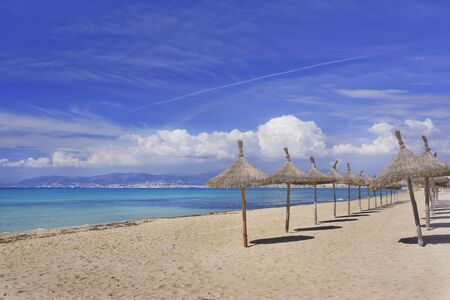 mallorca: Beach in Mallorca Spain Stock Photo