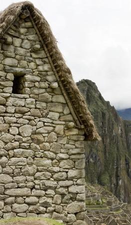 guard house: Guard house in Machu Picchu Peru
