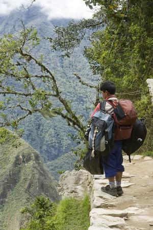 Porter for the inca Trail in Peru Stock Photo - 4317580