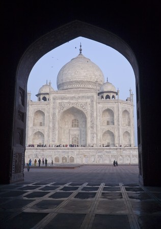 The Taj Mahal was built at Agra, Uttar Pradesh, India by Emperor Shah Jahan as a mausoleum for his wife Mumtaj in 1631 AD