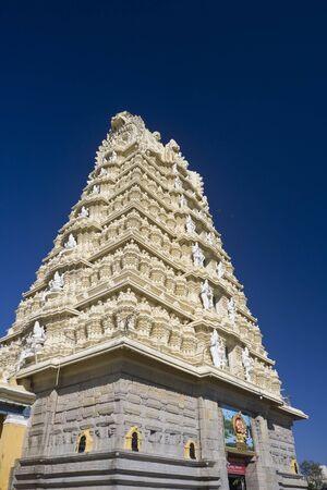 Sri Chamundeshwari Temple on Chamundi Hill in Mysore, India.