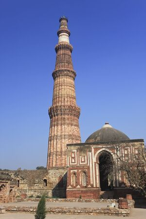 Qutub Minar is the tallest brick minaret in the world at 72.5 meters. Commenced by the first Muslim ruler of Delhi in 1193, it was only completed in 1368. It is now listed as a UNESCO World Heritage Site.