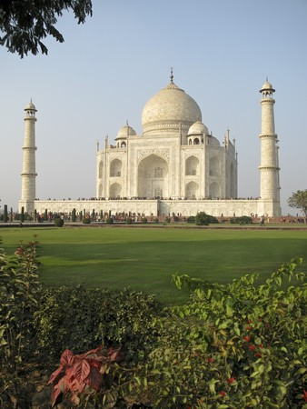 The Taj Mahal was built at Agra, Uttar Pradesh, India by Emperor Shah Jahan as a mausoleum for his wife Mumtaj in 1631 AD