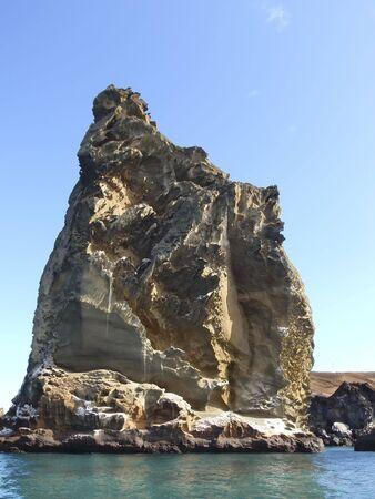 Rock pillar on the Galapagos Islands Stock Photo