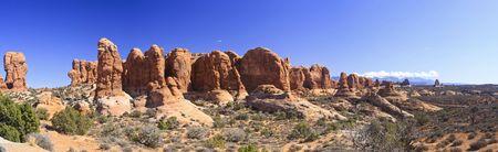 Arches Panoramic of Garden of Eden Stock Photo