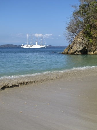 Snorkeling on Tortuga Island beach, Costa Rica  Stock Photo
