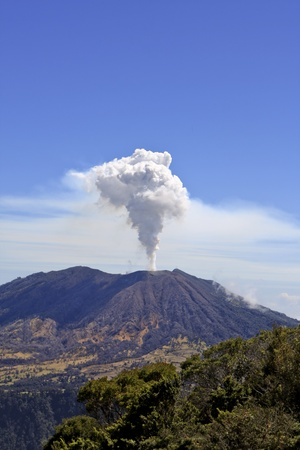 volcanos: Turrialba Volcano is stream more than in the passed few years, Costa Rica Stock Photo