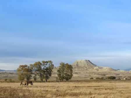 Crowheart Butte is a famous and distinctive landmark mountain in Wyoming. The flat-topped butte was named to commemorate a battle between Shoshone tribe