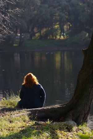 Autumn ideas at an old pond photo