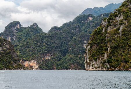 The mountains around the reservoir Khao sok. Thailand Stock Photo
