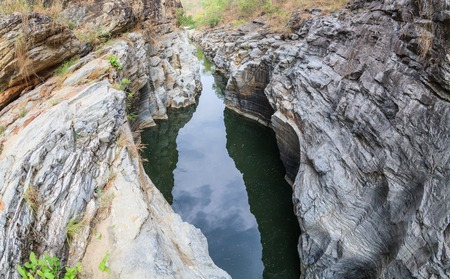 woodsy: Small canyon Stock Photo