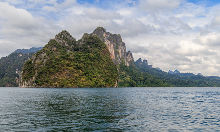 Lake Khao Sok rock