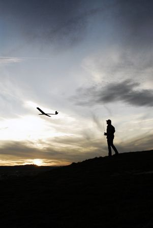 gimmick: model aircraft outdoor