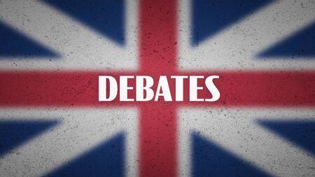 UK politics poster - the word