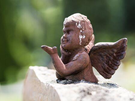 Angel on stone Stock Photo
