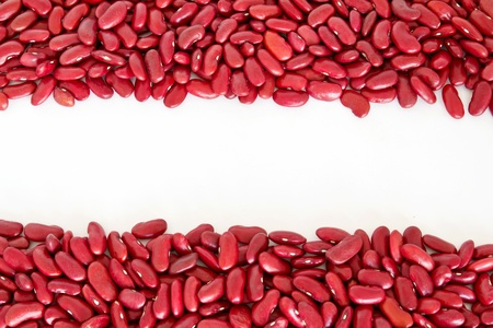 Rad beans stripes isolated in white background