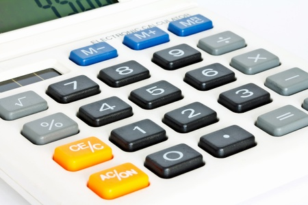 Close up Calculator Keypad  photo